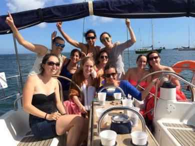 addio al celibato in barca a vela